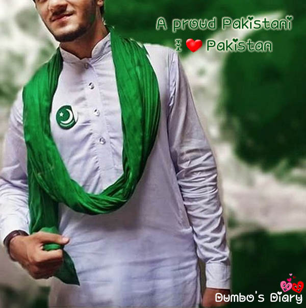 Boy in Pakistani dress on independence day