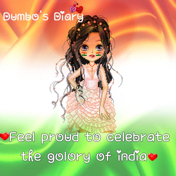 girly dp with quote republic day