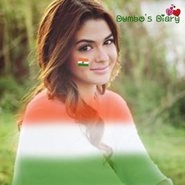 indian girl on independence day