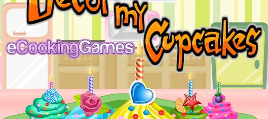 Decor my cupcakes cooking girl game