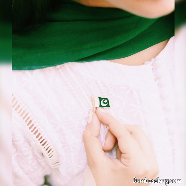 Hidden Face Pakistani Girl independence Day